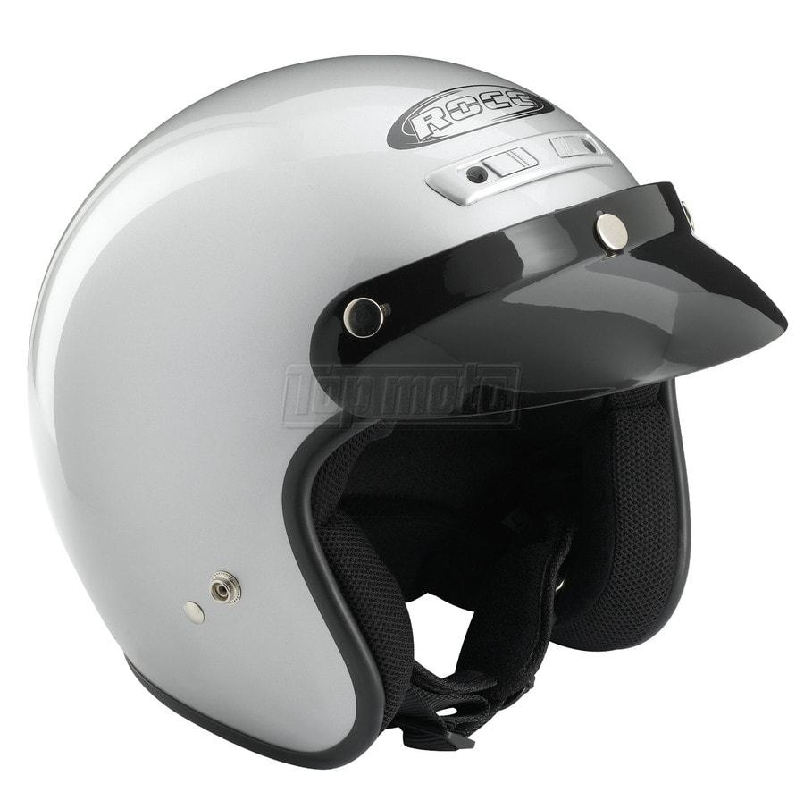 3f6c7f0aa83 Topmoto.cz - Dětská moto helma ROCC Classic Jr. - Stříbrná ...