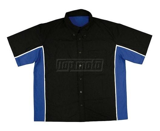 Topmoto.cz - Moto košile s krátkým rukávem černo modrá 7f3a0402bd